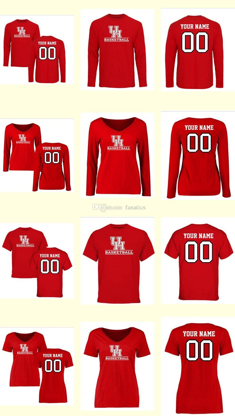 mens women youth kids houston cougars personalized customized ncaa jersey red any name any number to