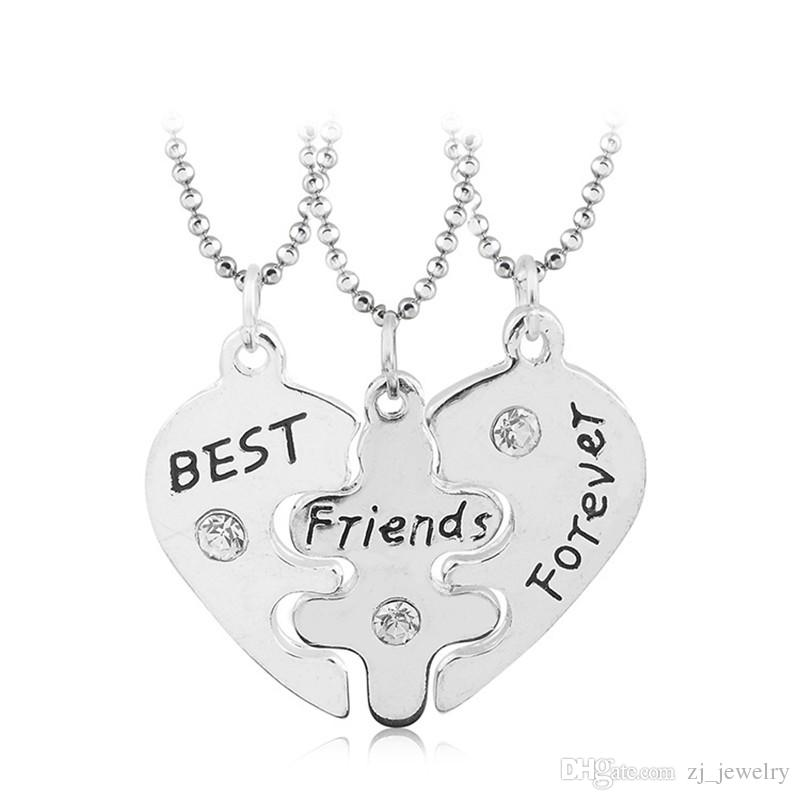 Collier Collier Bff de Lovers Collier 3 pcs Best Friends Forever Colliers Collar