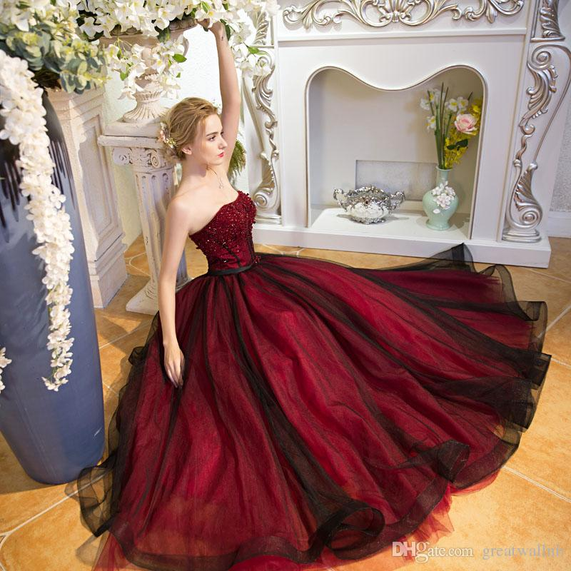 Black Red Ball Gown – fashion dresses