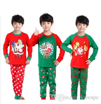 2017 2016 New Kids Boutique Christmas Pajamas Boys Girls Autumn ...