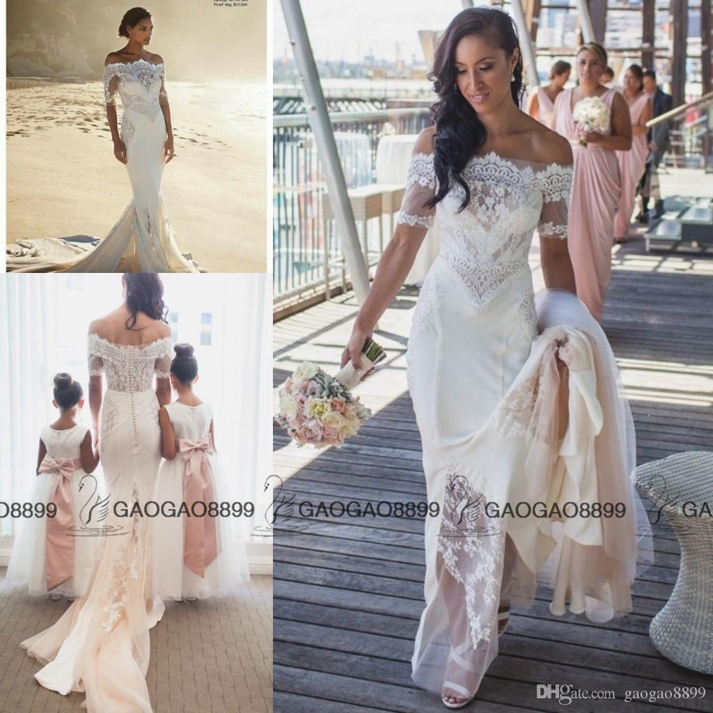 Steven khalil 2016 summer holiday beach mermaid wedding for Steven khalil mermaid wedding dress