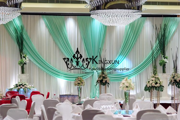 2017 white and turquoise wedding backdrop curtain with - White and turquoise curtains ...