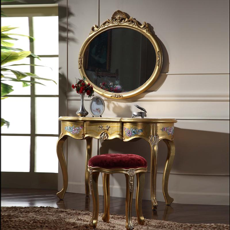 Italian Classic furniture - high end classic solid wood furniture - gold  leaf gilding dressing table