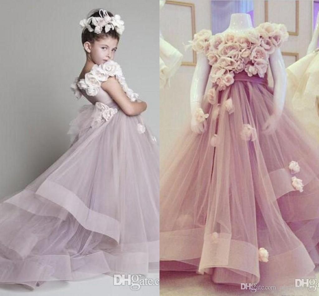 2016 real picture nude pink flower girls dresses to wedding party 2016 real picture nude pink flower girls dresses to wedding party handmade flower kids formal pageant wear first communion gowns custom communion dresses dhlflorist Gallery