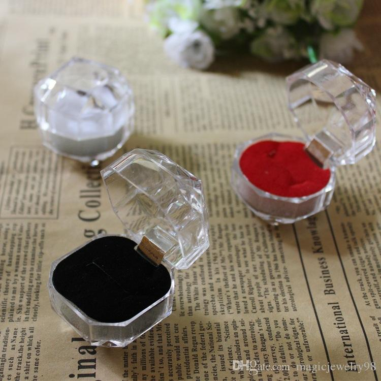 Cheap Jewelry Display Acrylic Ring Boxes Earrings Holder Boxes