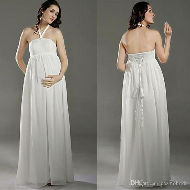 Discount simple maternity country 2016 wedding dresses for Plus size maternity wedding dresses cheap