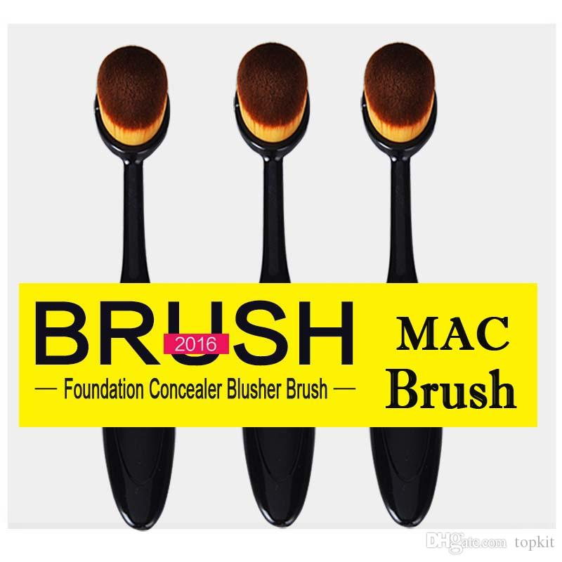 Oval Brush Makeup Brushes Toothbrush-shaped Foundation Brush Cream Puff Brush Power Makeup Beauty Cosmetic Foundation Blend Tools