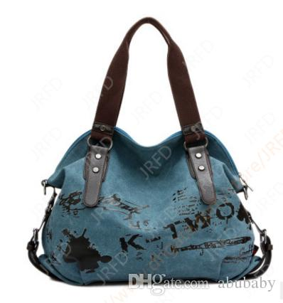 Canvas Bags Shoulder and Cross Body bags Graffiti Retro Female bags Best Gift Mordern bags Free shipping