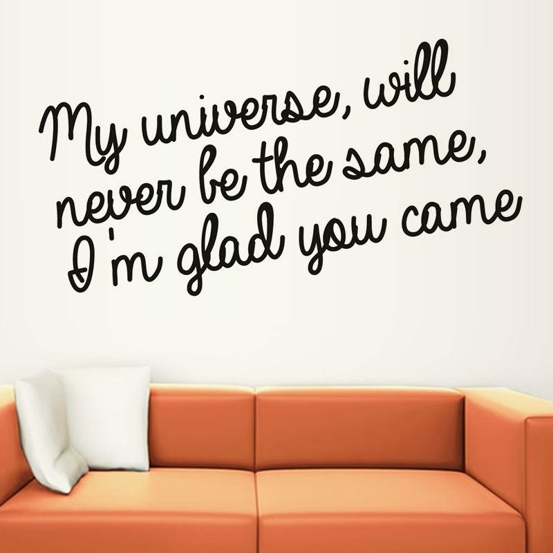 I M Glad You Came Home Decor Art Words Wall Decal Vinyl Removable Diy Sticker For Living Room Home Decals For Decoration Home Decals Walls From Lin100