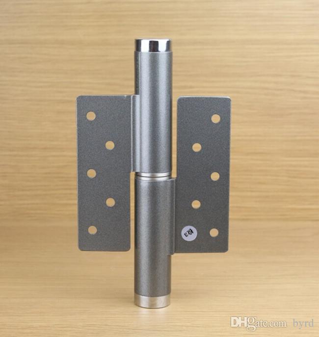 6 inch invisible door aluminum alloy hydraulic pressure hinge door stopper degree free positioning speed adjustable right hinge grey door hinge door