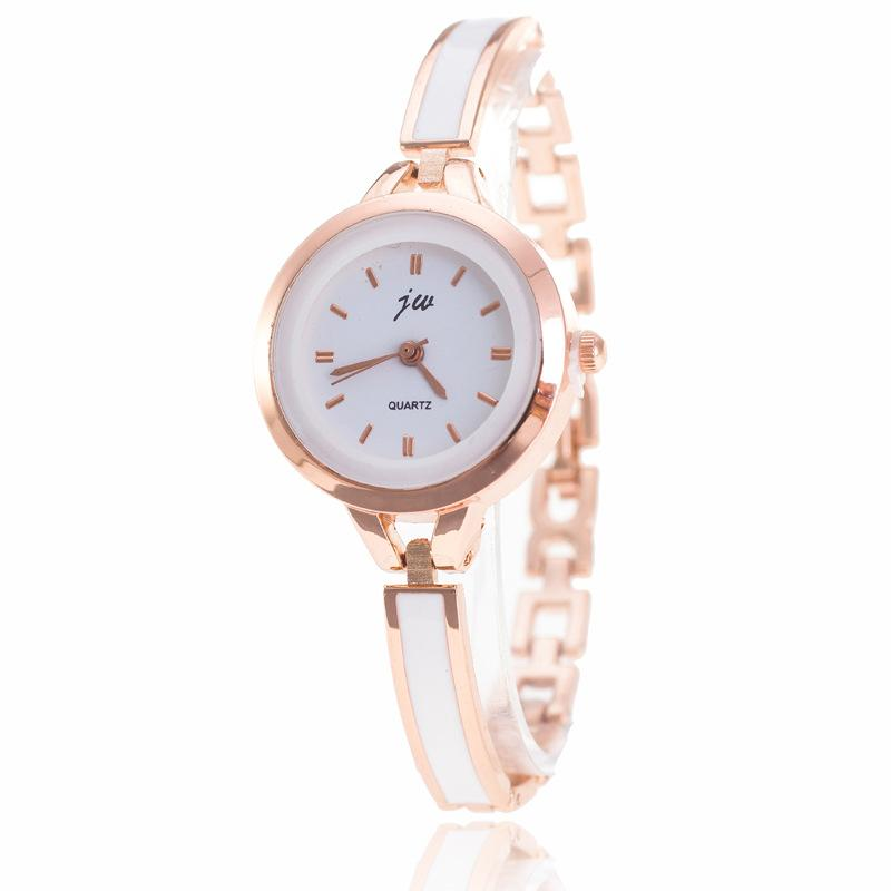2016 Thin Style Womens Bracelet Watch Metal Plastic Glue Alloy Fashion Dress Watch Leisure