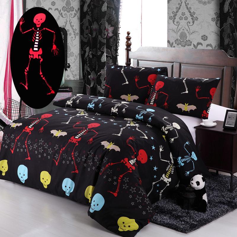 2016 nightmare before christmas bedding set red ghost bat black