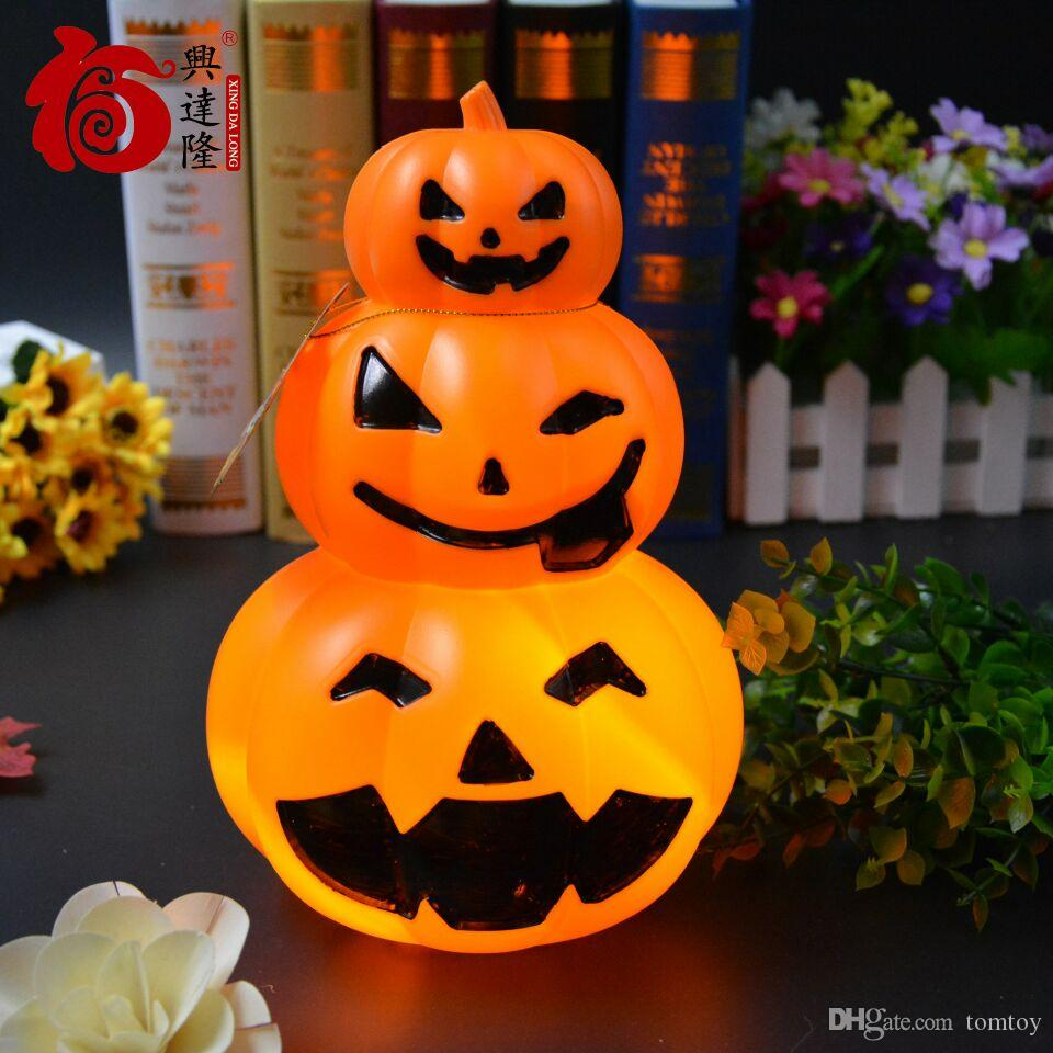 Halloween Props Bar Ktv Housing Decoration Halloween Pumpkin Lantern Pumpkin Stack Pe Material Used Voice