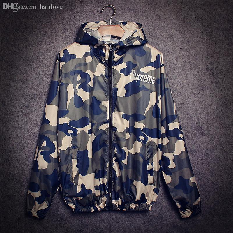 Automne-2016 Hiphop Harajuku Fashion Jacket New Tide Marque Camouflage Outdoor S