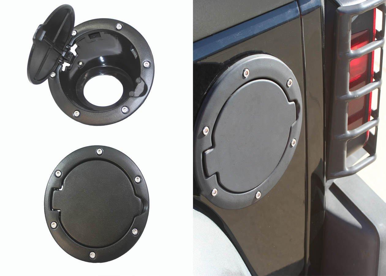 2017 Jeep Wrangler Black Gas Tank Cap Cover Door Fuel