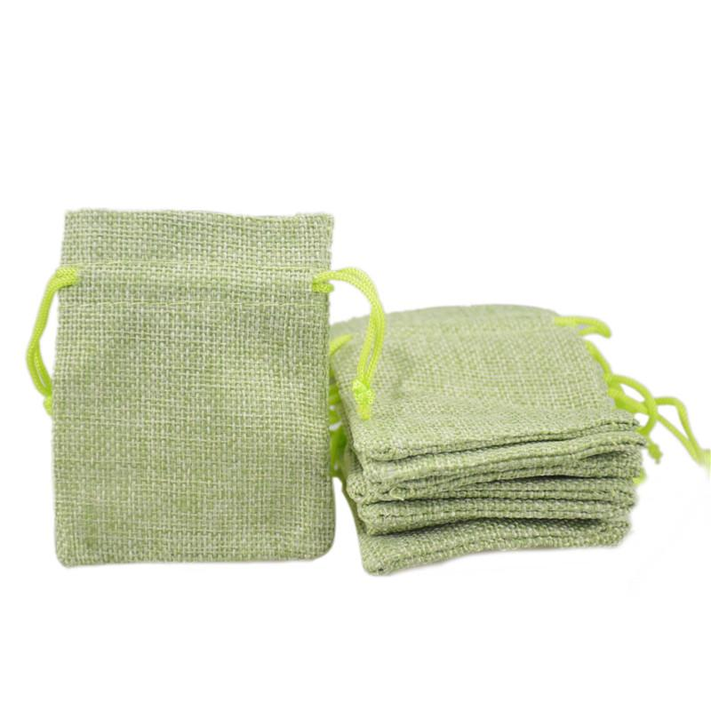 7x9cm Hessian Bag for Sale Faux Jute Drawstring Jewelry Bags Candy ...