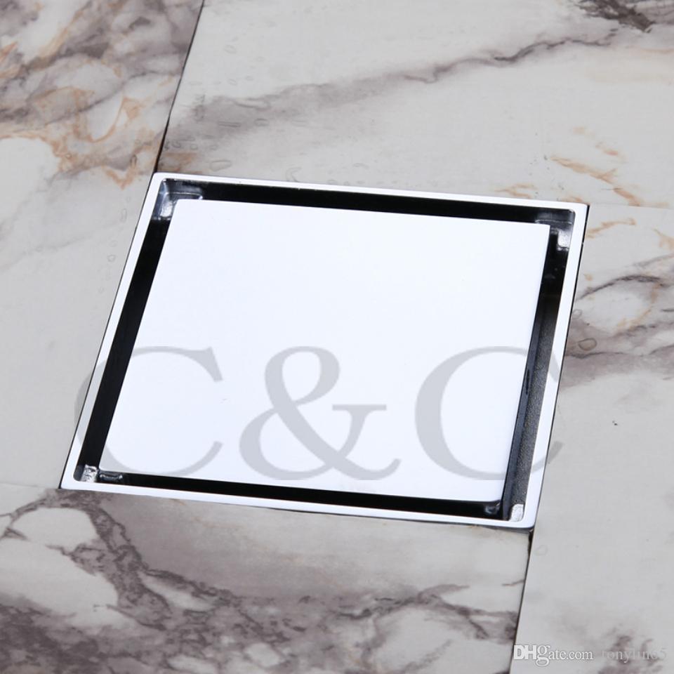Bathroom Floor Waste Smell : Inch solid brass chrome square bathroom floor drain