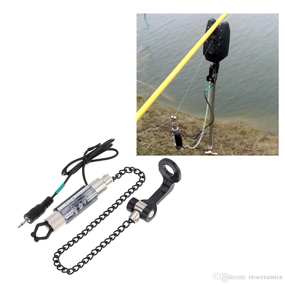 new led fishing alarm chain hanger swinger indicator fishing bite, Fishing Rod