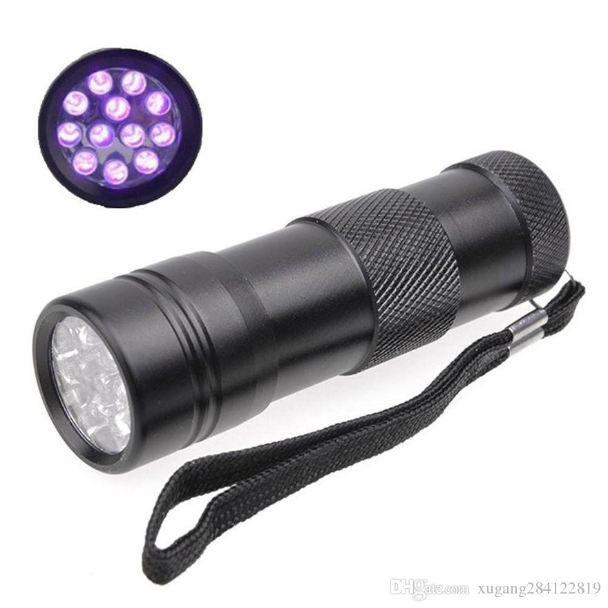 395-400NM Ultra Violet UV Light Mini Portable 12 LED UV Flashlight ...