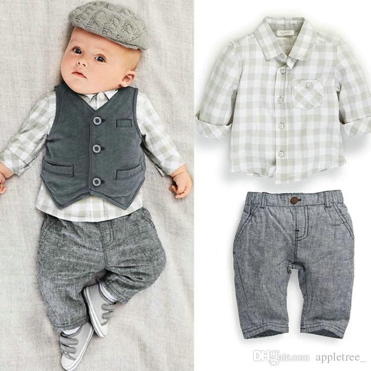 Shop modern baby and toddler boy boutique clothing: newborn one-piece outfits, cool infant rompers, soft children's polo shirts, modern kids button downs, contemporary bodysuits, and cute trendy infant and toddler boys neck ties that attach with Velcro.