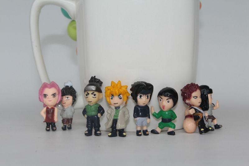 2016 New Arrive 10 3-4cm Naruto Figure Mini Kakashi Doll Cute Sasuke Toy Kids Gift Random Delivery F-0207