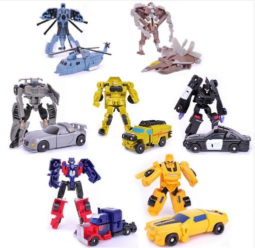 Cartoon Robot Toy : Action toy figures robots model kids classic