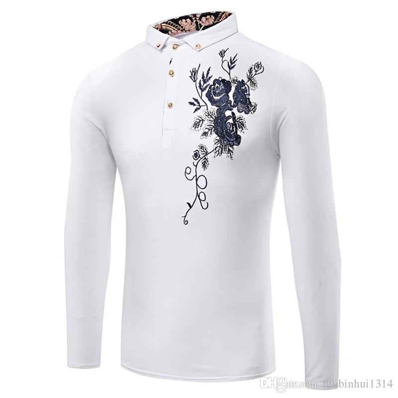 Breathable mens t shirts crew neck modal long sleeve print for Modal t shirts mens