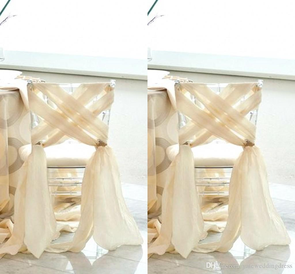2017 Simple Beach Wedding 2016 New Chiffon Chair Sash