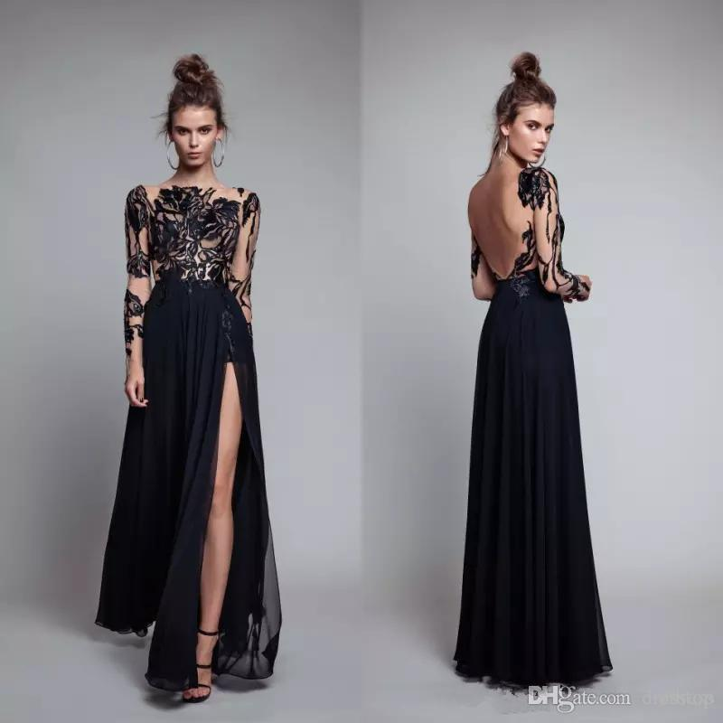 Fashion dresses for women 2018 evening plus side