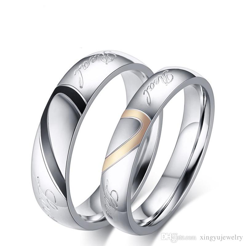 Cheap Stainless Steel Promise Rings