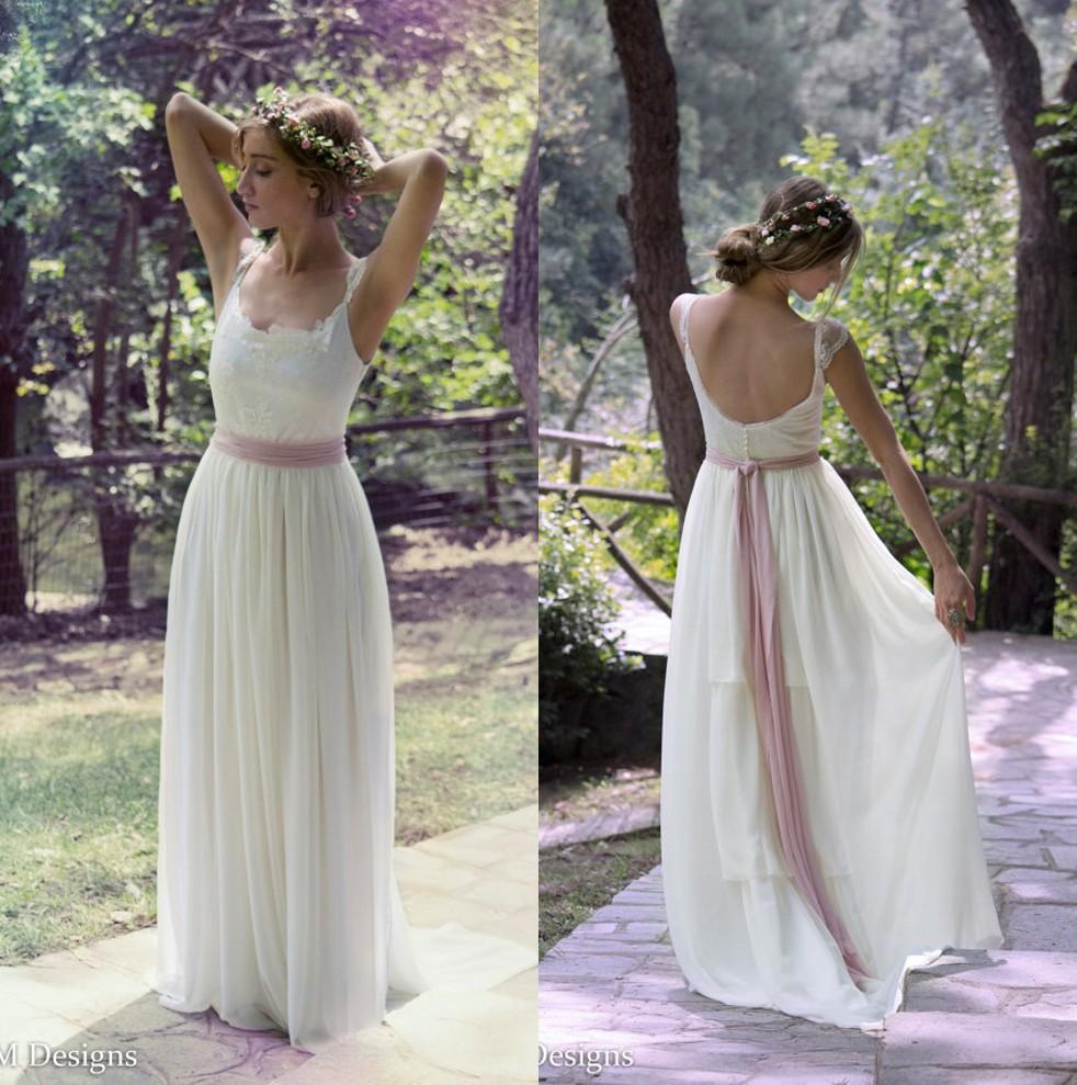 Discount chiffon lace boho wedding dresses 2016 cheap for Cheap boho wedding dress