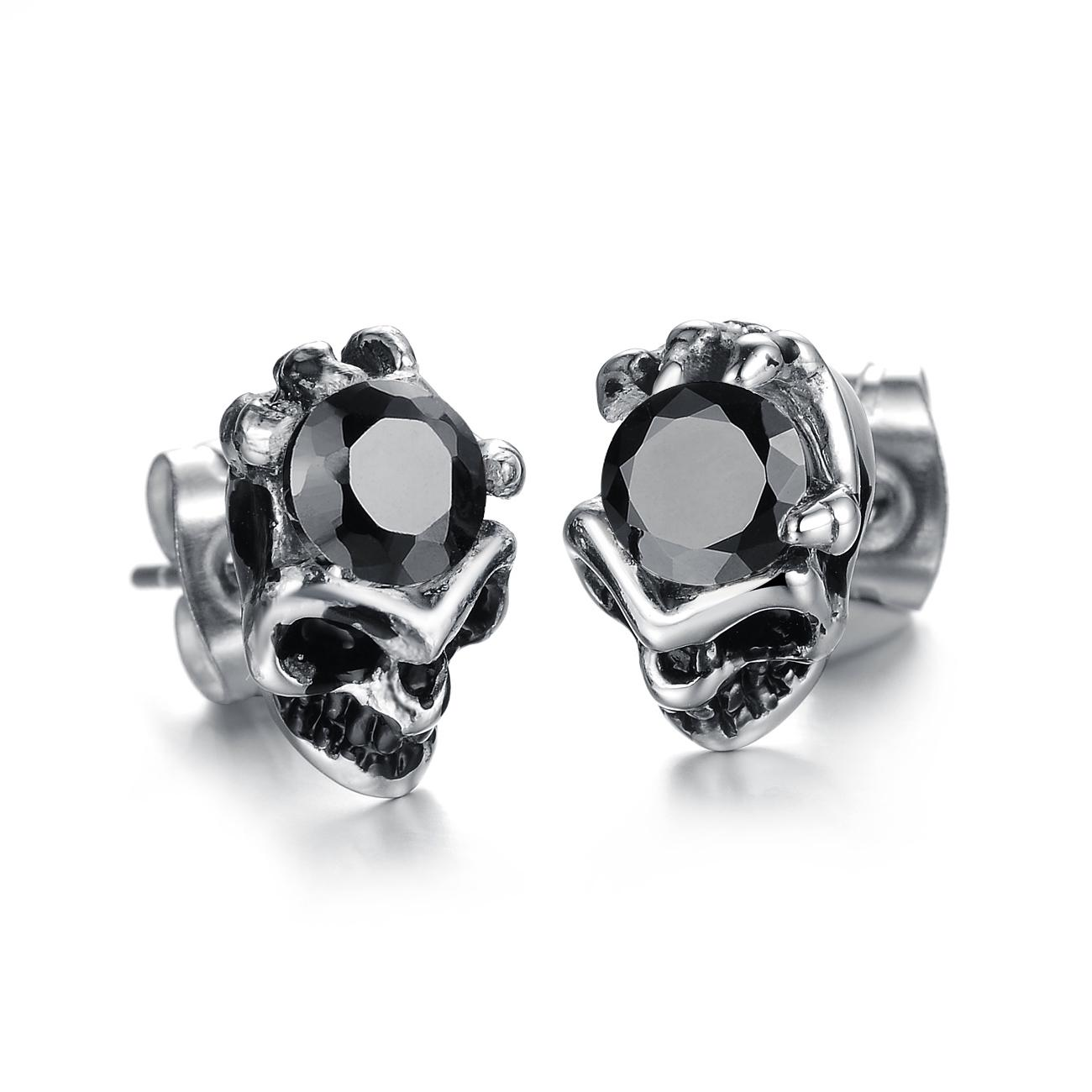 Men Black Diamond Stud Earringsparison Cheapest