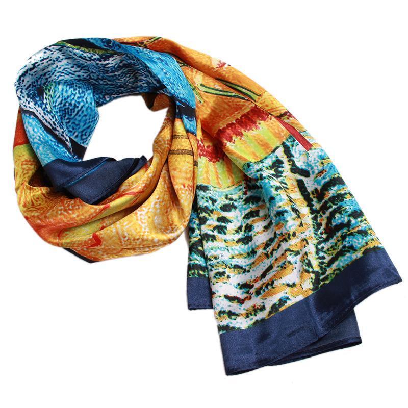 sale 90 90cm satin square scarf high quality