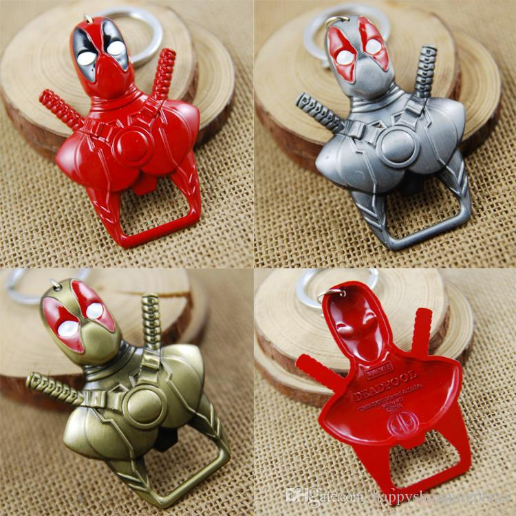 cartoon keychains marvel deadpool zinc alloy key chain with bottle opener cartoon anime movies. Black Bedroom Furniture Sets. Home Design Ideas