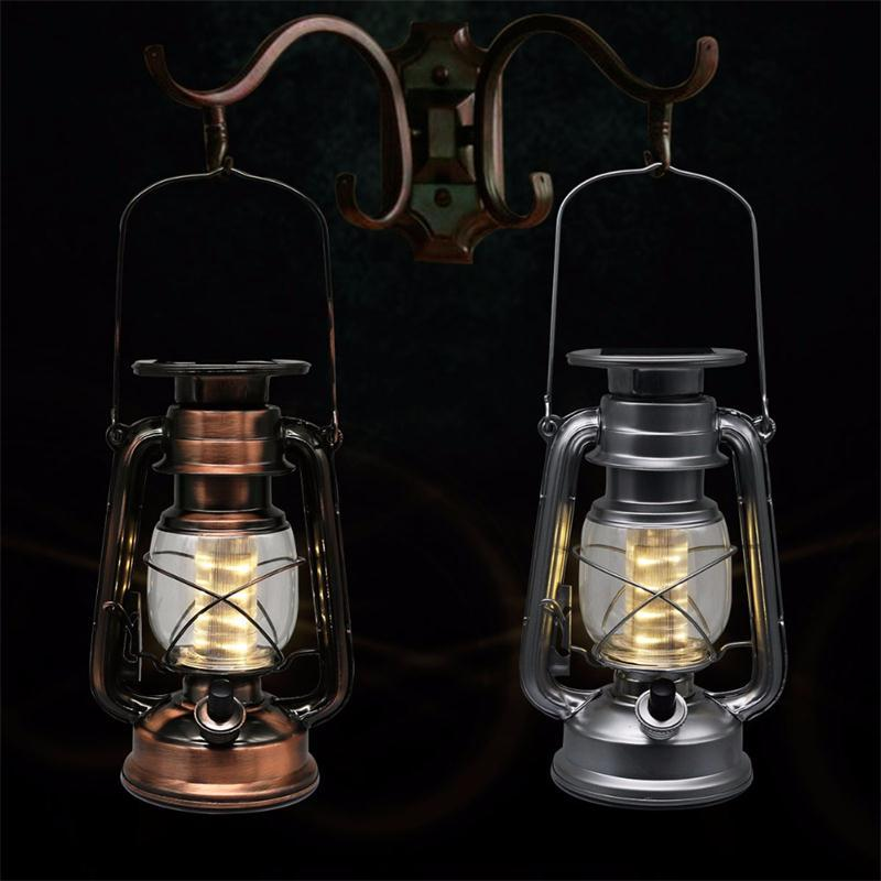 LED Porching Lighting Solar Lantern Vintage Power Led