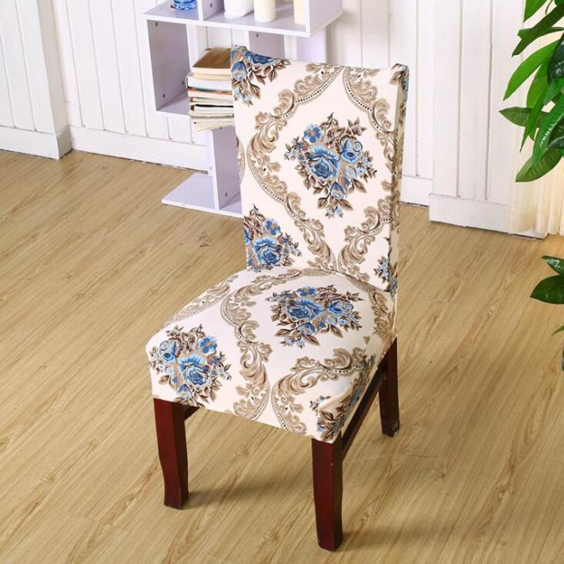 Floral Print Chair Cover Home Dining Elastic Chair Covers Multifunctional  Cotton Elastic Cloth Universal Stretch Floral Print Chair Cover Cotton  Elastic ...