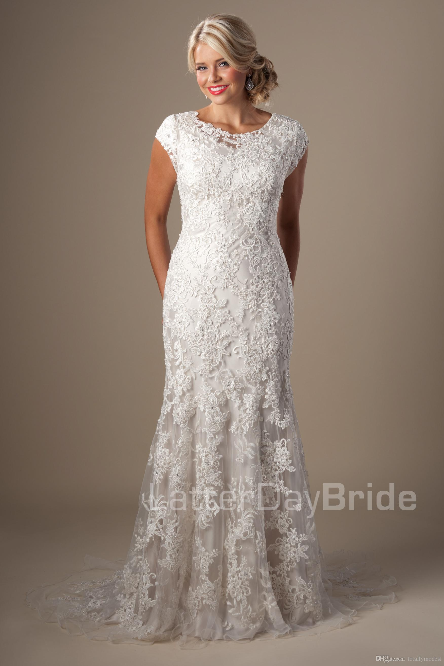 2016 New Arrival Vintage Modest Wedding Dresses Lace