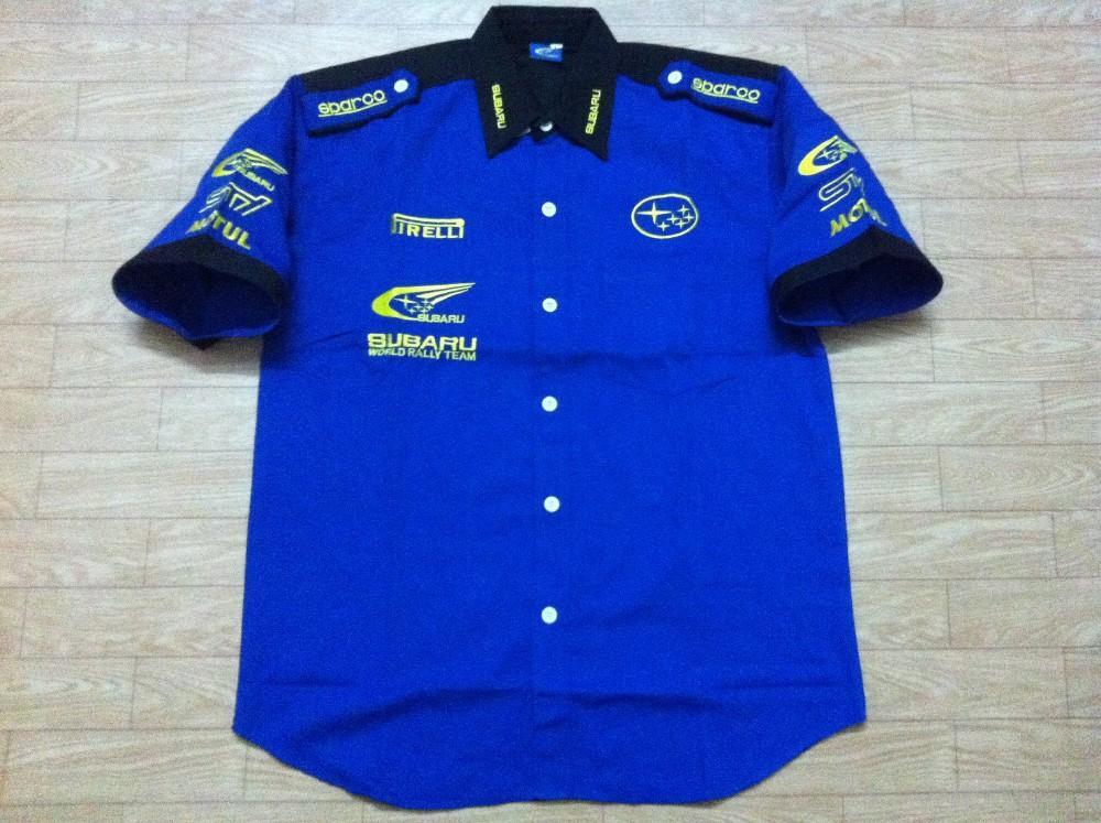 F nascar shirt short sleeve cotton motorcycling