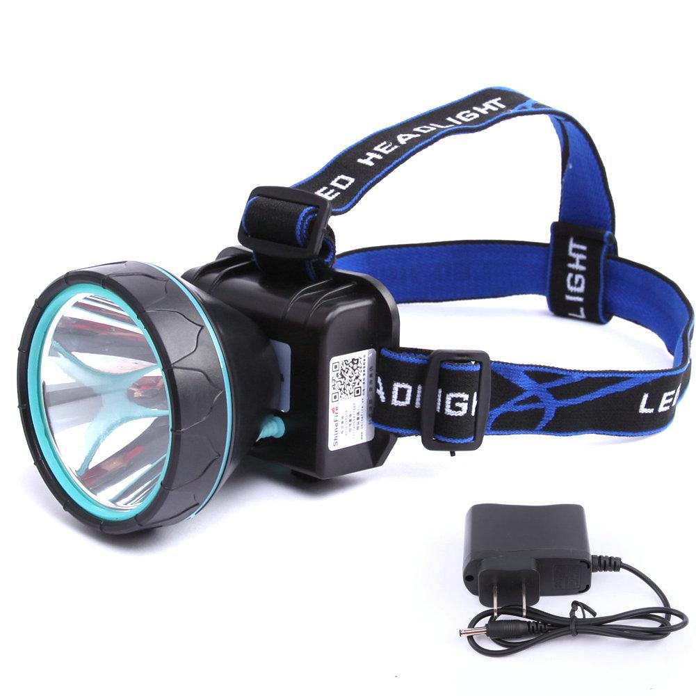 led head lamp rechargeable headlight spotlight for camping, hiking, Reel Combo