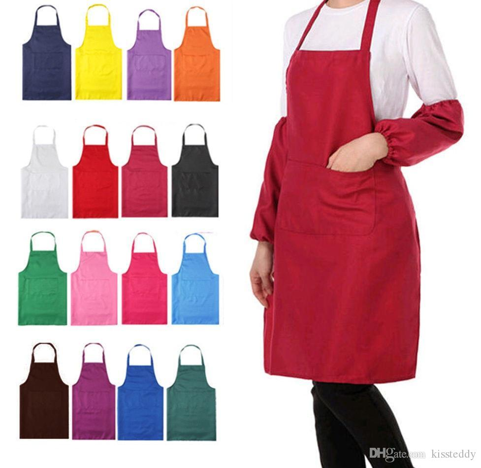 White apron meals - Unisex Apron Cooking Kitchen Restaurant Bib Apron Dress With Pocket Gift Hot Fedex Dhl Free White Apron Personalized Aprons From Kissteddy 1719 6 Dhgate