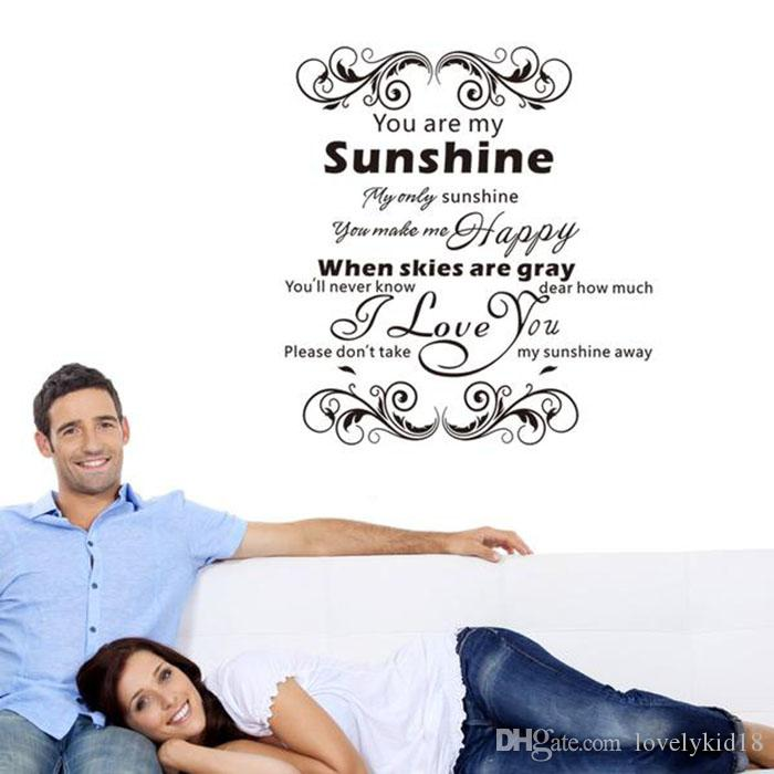 You Are My Sunshine I Love You Wall Stickers Lyrics Quotes Wall - Wall decals you are my sunshine