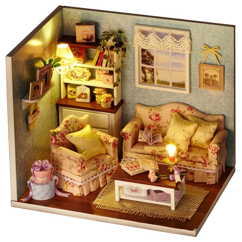 206 New Wooden Dollhouse Furniture Kids Toys Handmade Gift
