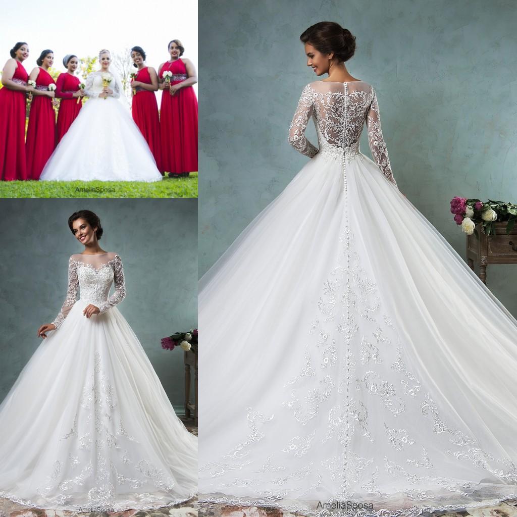 Discount Modest Princess Amelia Sposa Wedding Dresses