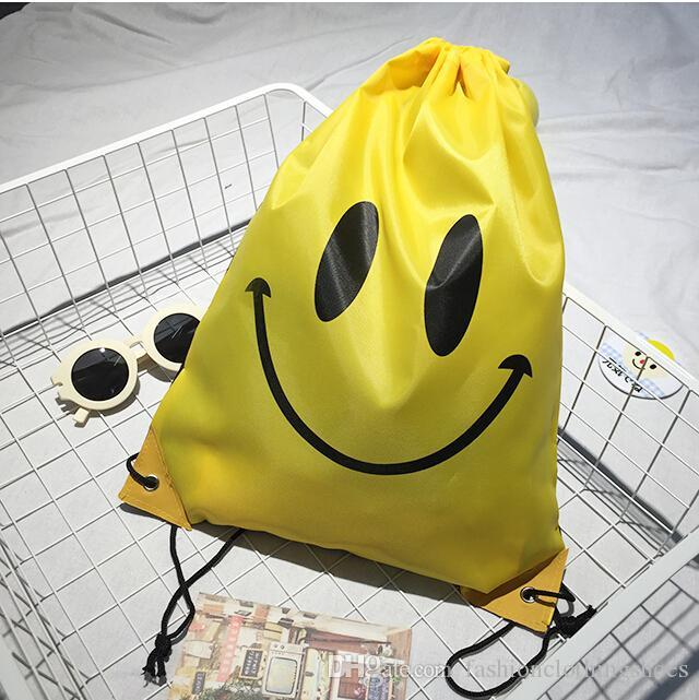 Emoji Gym Bag Travel Backpack Hiking Shoulder Fashion Portable Swimming Package Smile Face Storage H125