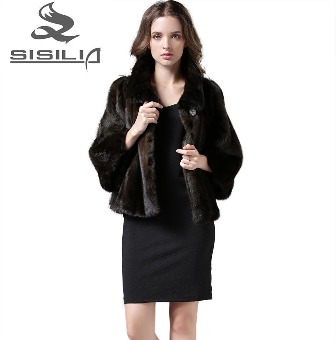 2016 New Women'S Mink Fur Jacket Short Style Female Mink Bolero ...