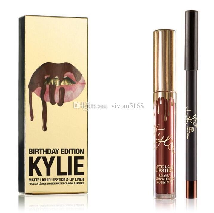 Kylie Jenner LIP KIT in LEO Birthday Edition Matte Lipstick & Liner IKylie Jenner Cosmetics Leo Lip Kit Birthday Edition CONFIRMED in Stock