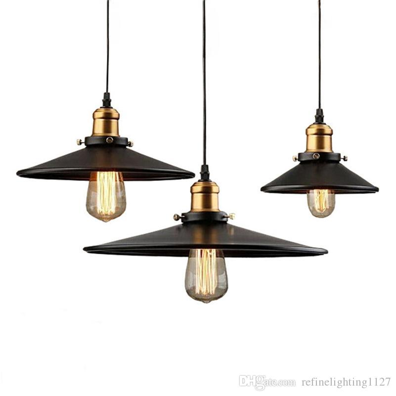 Discount vintage pendant lamp edison chandelier suspension for Luminaire exterieur retro