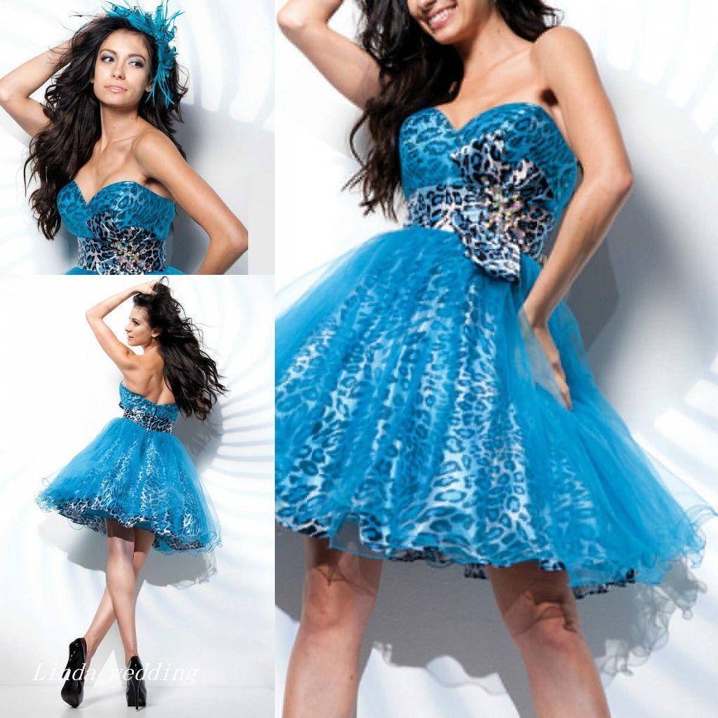 Blue Cheetah Prom Dress | Dress images