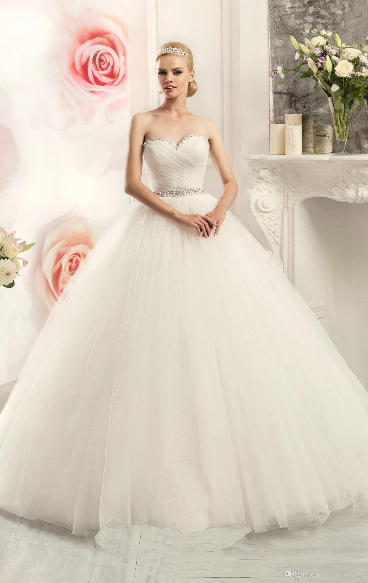 Princesa y Vintage Ball Gown Wedding Dresses 2016 Cheap