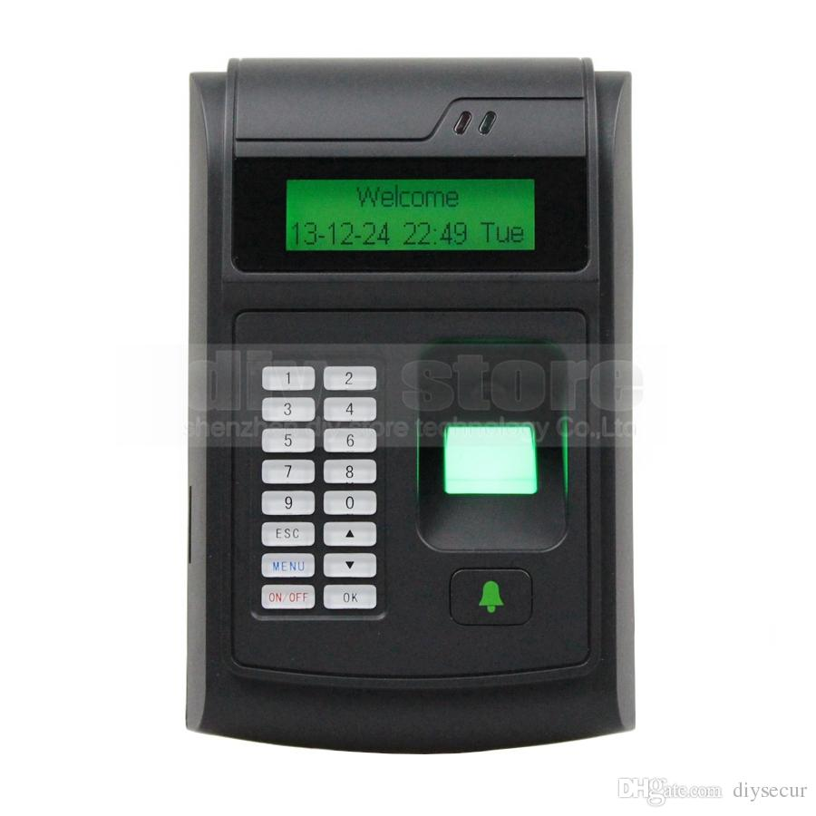 lcd biometric fingerprint pin code door lock access control 125khz rfid id card reader keypad usb door bell button access control system online with - Biometric Door Lock